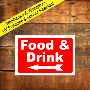 Food and drink sign direction arrow left or right 9676 Outdoor Cafe Burger van