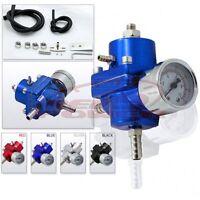 Fuel Pressure Regulator With Gauge (blue)