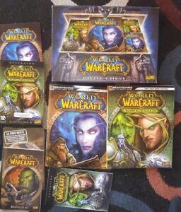 Rare-World-of-Warcraft-Battle-Chest-Blizzard-2-DVD-Rom-CD-Pc-Game-Complete-CIB