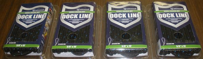 Attwood 117037 Doppia Treccia MFP Dock Linea 38  x 15 ft Nera Confezione da 4