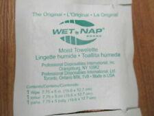 """100 pack 7.75/"""" x 5/"""" Fresh Lemon Scented Moist Towelettes Wet Wipes Fresh Naps"""