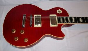 Stellar Mercury 001 Elite - Red, Maple Flametop Singlecut Electric Guitar w/Case