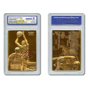 1996-97-KOBE-BRYANT-Fleer-23K-Gold-ROOKIE-Card-Purple-Signature-Series-GEM-MT-10
