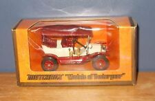 Matchbox Yesteryear Y1-2 Model T Ford Car Cream Red Wheels Unrecorded Variation