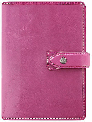 Filofax Malden Personal Organiser Fuschia Pink Buffalo Leather Diary 026028
