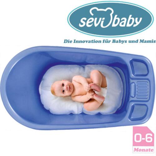 Baby Wanneneinlage Schaumkugel Einlage Sevibaby Badewannensitz Weiß Cushion 8734