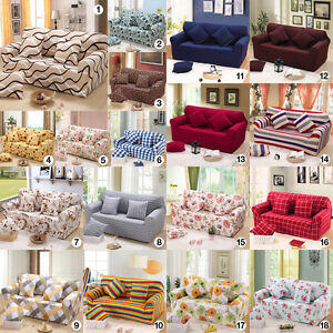 Living Removable Stretch Elastic Sofa Chair Couch Silp Covers For 1 2 3 4 Seater