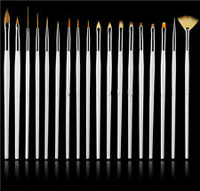 Top Quality 15pcs Nail Art UV Gel Design Brush Set Painting Pen Manicure Tools