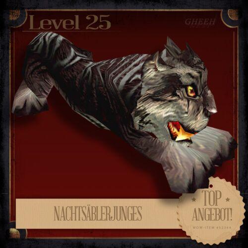 » NachtsäblerjungesNightsaber CubWorld of WarcraftTCG Haustier L25 «