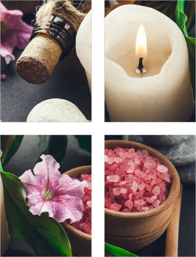 Tile Stickers Tile Picture Candle Blossom Wellness Spa STICKERS TILES BATHROOM WC