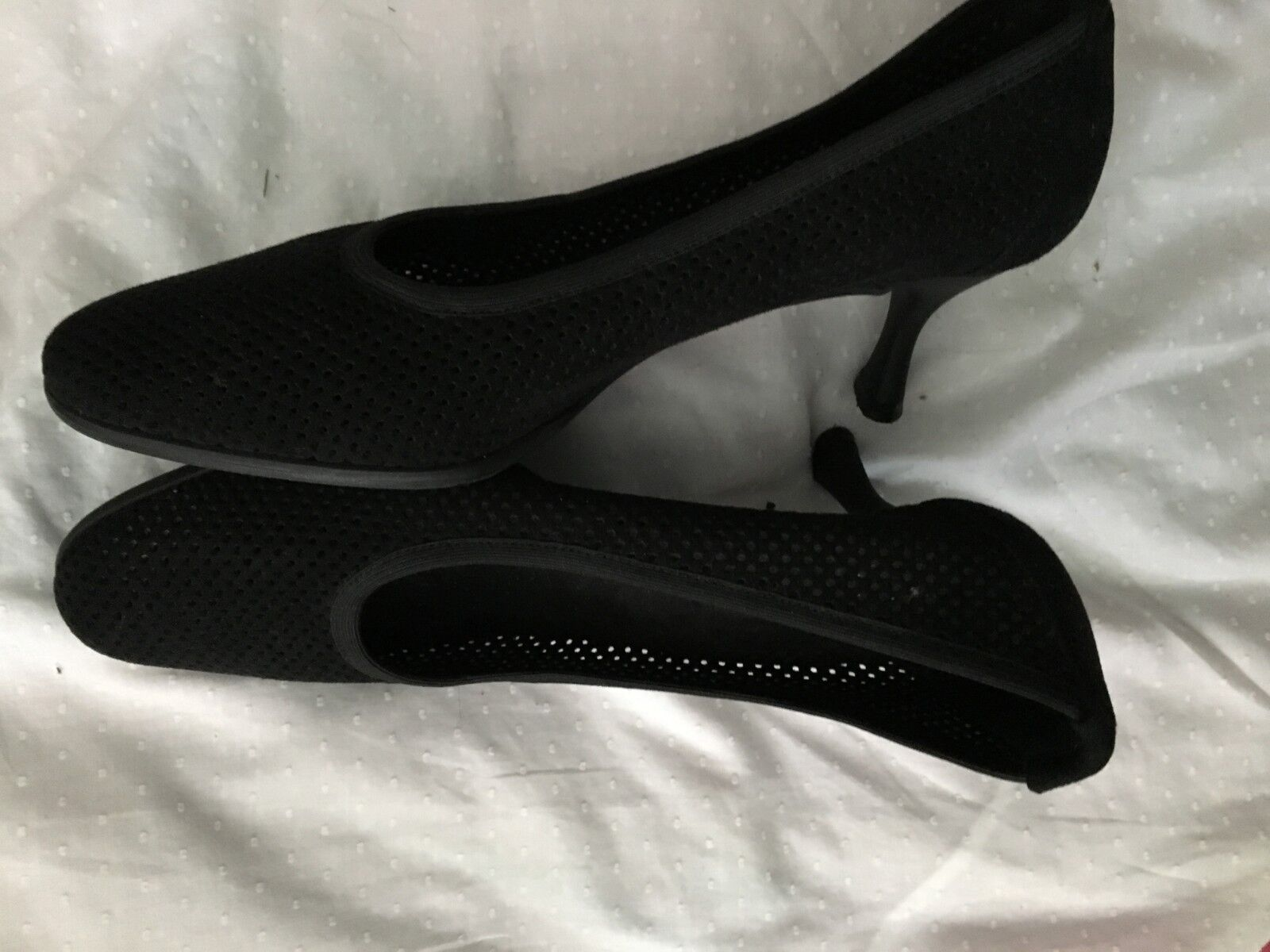 Stuart weitzman Black perforated Comfort shoes Women Size Size Size 7 Stylish 85c40c