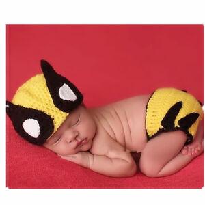 Baby-Girl-Boy-Crochet-Knitted-Wolverine-X-Men-Halloween-Cosplay-Photography-Prop
