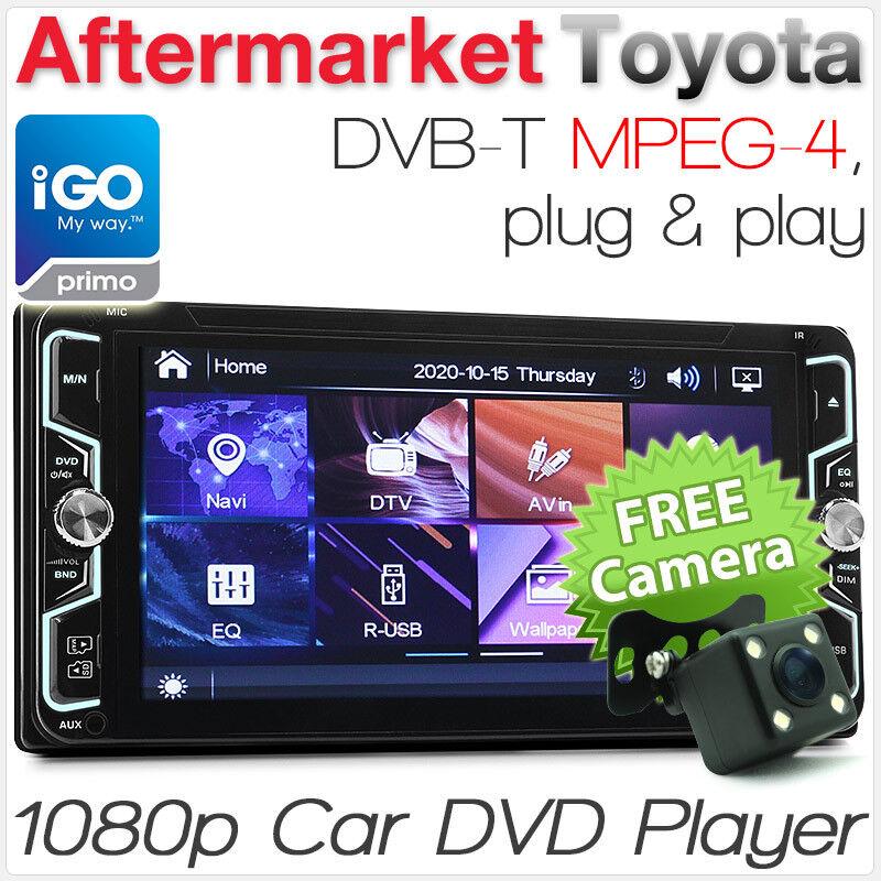"7"" Toyota CD DVD Player DVB-T Stereo Radio Head Unit Hilux Kluger GPS iGO Primo"
