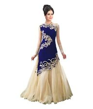GORGEOUS INDIAN DESIGNER NEW ETHNIC WEAR EMBROIDERED DRESS OUTFIT GOWN FOR WOMEN