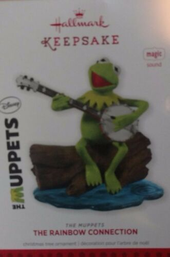 2013 Hallmark The Muppets Rainbow Connection Kermit the Frog Magic Ornament