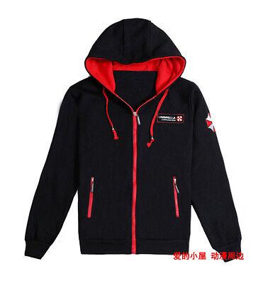Black Resident Evil Umbrella Embroidery Slim Jacket Coat Costumes M L XL XXL