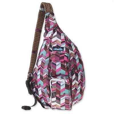 Kavu Rope Sling Bag Polyester Crossbody Shoulder Hiking Backpack Sunset Blocks 782519348155 Ebay