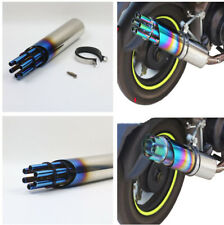 New Gatling Gun Motorcycle Rotated Muffler Pipe Exhaust Gas Driven Tip Stainless