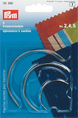 Polsterernadeln gebogen 3 Stück Polsternadeln Prym NEU 131350 Nähnadeln