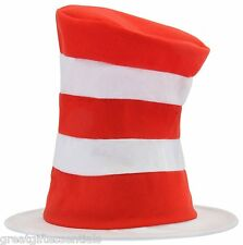 Dr Seuss CAT IN THE HAT Child Costume Hat Red White Striped Kids Top Stove NEW