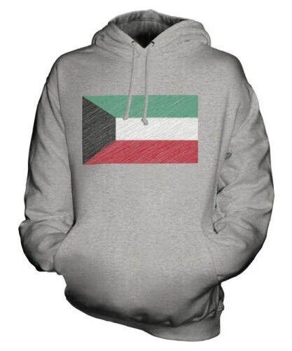 KUWAIT SCRIBBLE FLAG UNISEX HOODIE TOP GIFT AL-KUWAYT KUWAITI