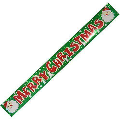 Joyeux Noël Holographique Foil Bannière Décoration