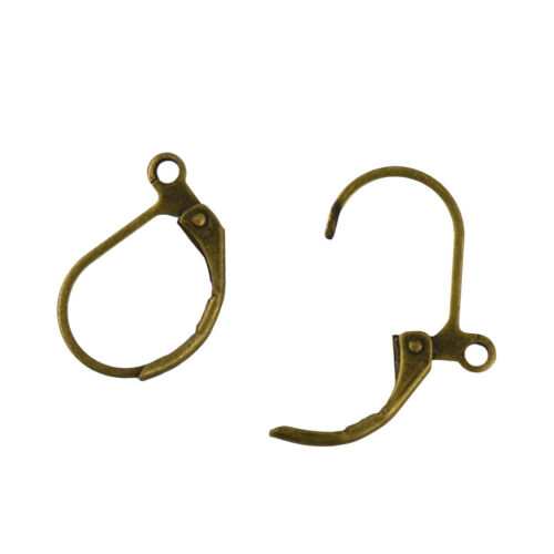 200pcs Lever Back Earring Findings French Ear Clip Hooks Findings DIY Craft