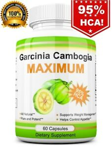 100-Pure-Garcinia-Cambogia-3-000mg-95-HCA-Weight-Loss-Fat-BURNER-Diet-Pills