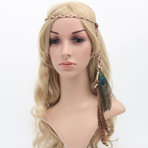 Indian Feder Stirnband Haarband Carnival Kopfschmuck Bonfire-Haarschmuck J7N4