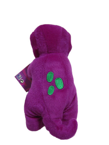 """** L@@K ** Barney Plush 7.5/"""" BRAND NEW with TAGS !!"""