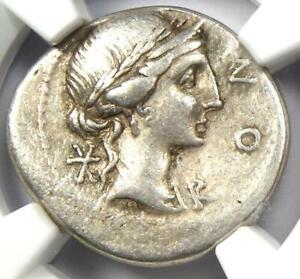 Roman-Republic-Mn-Aem-Lepidus-AR-Denarius-Coin-114-BC-Certified-NGC-VF