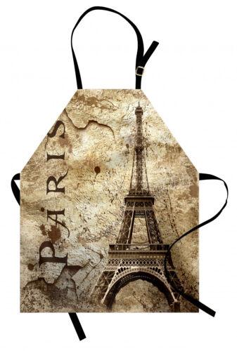 Paris Kochschürze Eiffelturm auf Grunge Wall Fett abweichend Waschbar