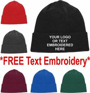 b0f0ee9330c Image is loading New-Embroidered-Personalised-Beanies-Workwear-Knitted- Beanie-Hat-