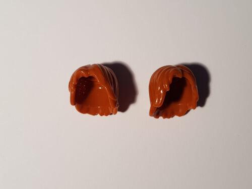 #TW48 LEGO® 2 x 88283 Minifigur Haare mittellang dunkelorange 6006514
