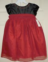 Girls Size 18 Months 18m Red Black Dress Party Christmas Dressy 2 Piece