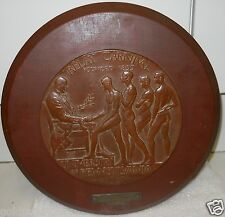 UNIVERSITY OF PENN RELAYS CARNIVAL AWARD PLAQUE,R.TAIT MCKENZIE,NUDE MALE RUNNER