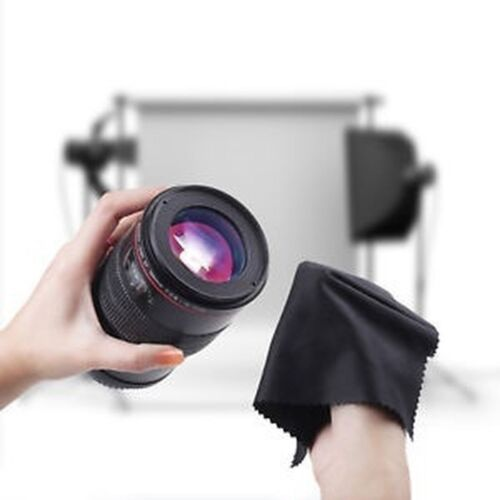 20x Black Microfiber Cleaning Cloth For Lens DSLR Screen Glasses Cloth Wipe