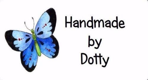260 etiquetas de dirección Mini Personalizado Hecho a Mano etc mariposa azul