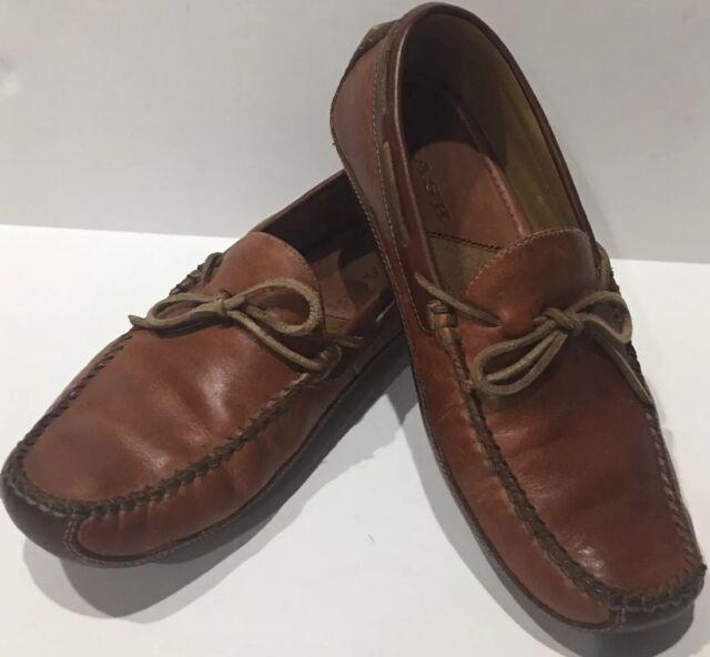 89b02e3ce46 ... H S Trask Mens Leather Drake Loafer Slip on Shoes Size 9 eBay
