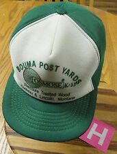 VINTAGE BOUMA POST YARDS PRESSURE TREATED WOOD CHOTEAU LINCOLN MONTANA HAT NICE!