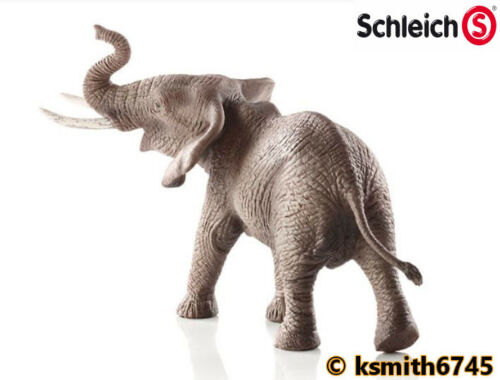Schleich MALE AFRICAN ELEPHANT solid plastic toy wild zoo animal NEW *
