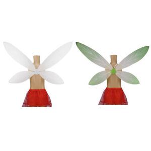 Girls-White-Green-Fairy-Butterfly-Wings-Angel-Costume-Birthday-Party-Fancy-Dress