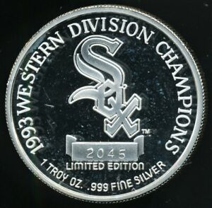 1993-Chicago-White-Sox-Western-Division-Champs-1-Oz-999-Silver-Round-Limited