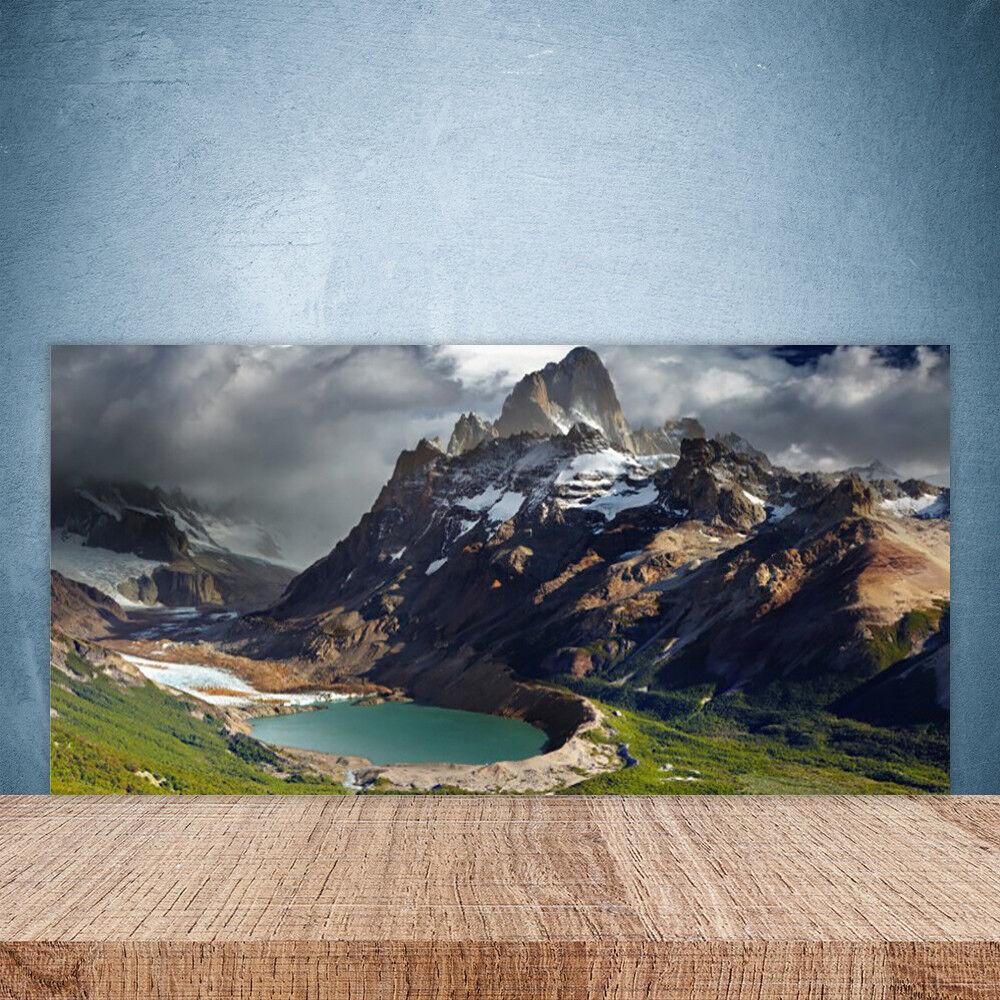 Crédence de cuisine en verre Panneau Paroi 100x50 Paysage Montagne Baie