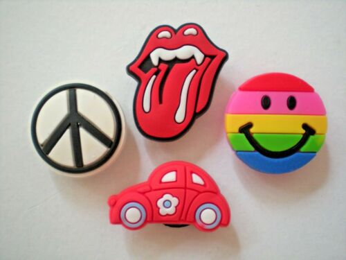 Clog Shoe Charm Button Plug  Accessories  4 Rainbow Smile Face Red Car