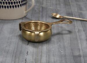 ORO Antico Colino per tè in ottone foglia Nkuku Foodie REGALO IDEA Loose Leaf infus.  </span>