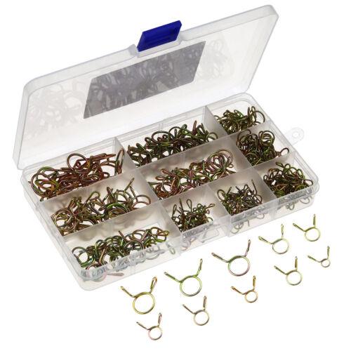 14 Größen 250 Stücke 5-14mm Federschlauch Clips Schlauchschläuche Federclip
