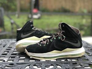 8295fc9d269a Details about Nike Lebron 10 X EXT Size 8 Black Mint Nubuck Suede  607078-001 100% Authentic