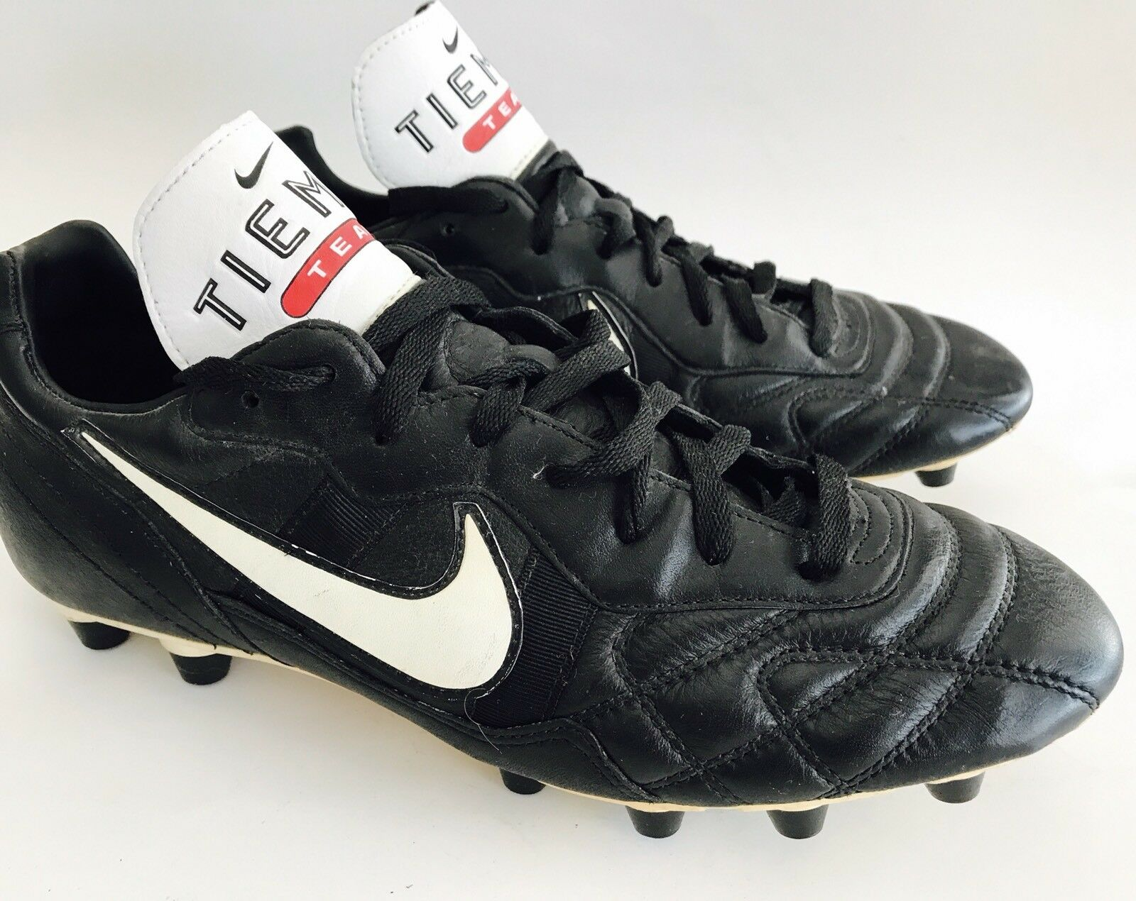 NIKE Tiempo Legend Black Leather Soccer Cleats shoes Sneakers Men's Size 11