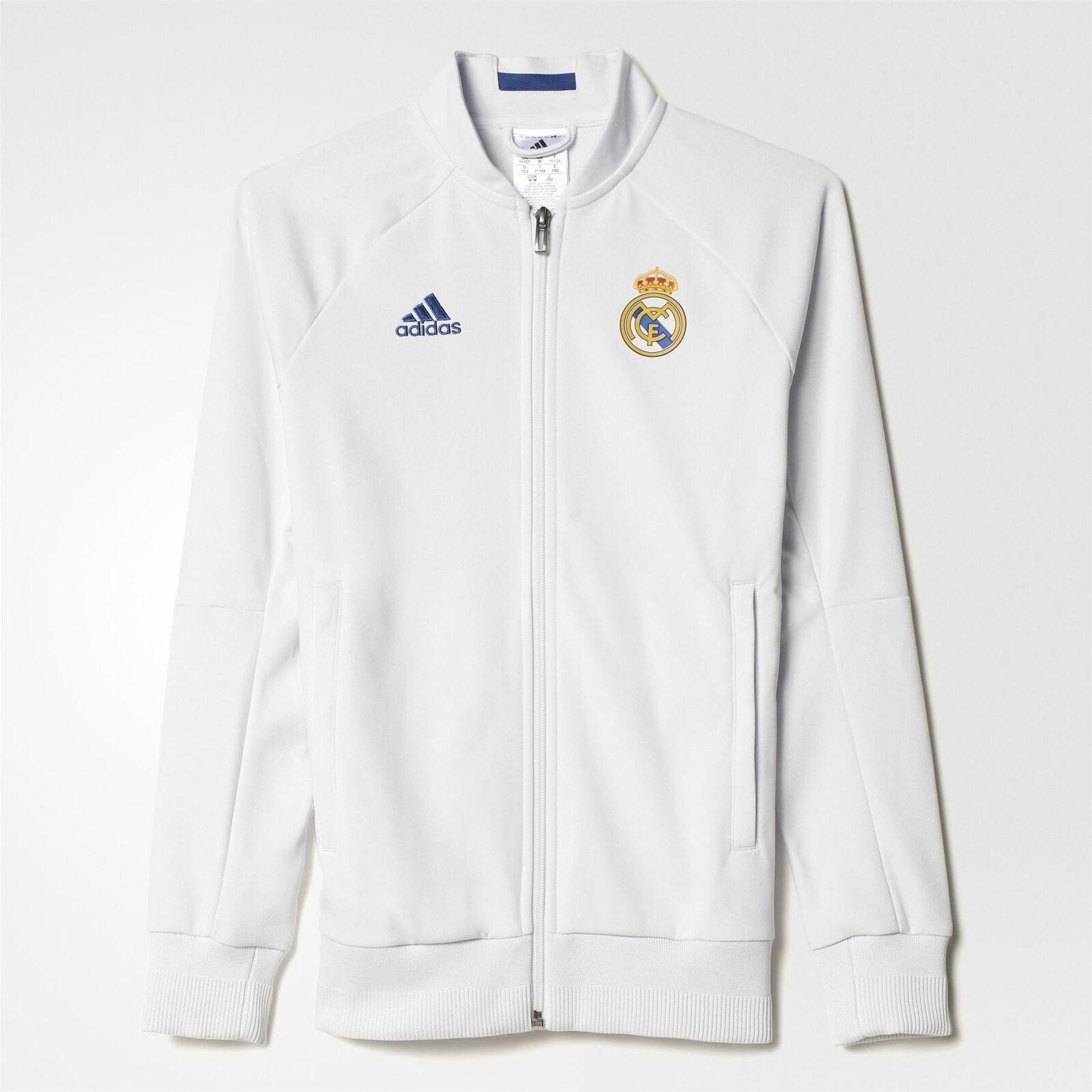 Adidas Real Madrid Inno Giacca Juniors Bianco Calcio Giacca Tuta